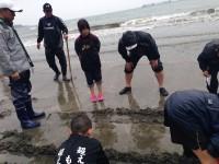 2015年4月19日 マテ貝掘り 北九州市の少年・少女ラグビースクールヤングウェーブ