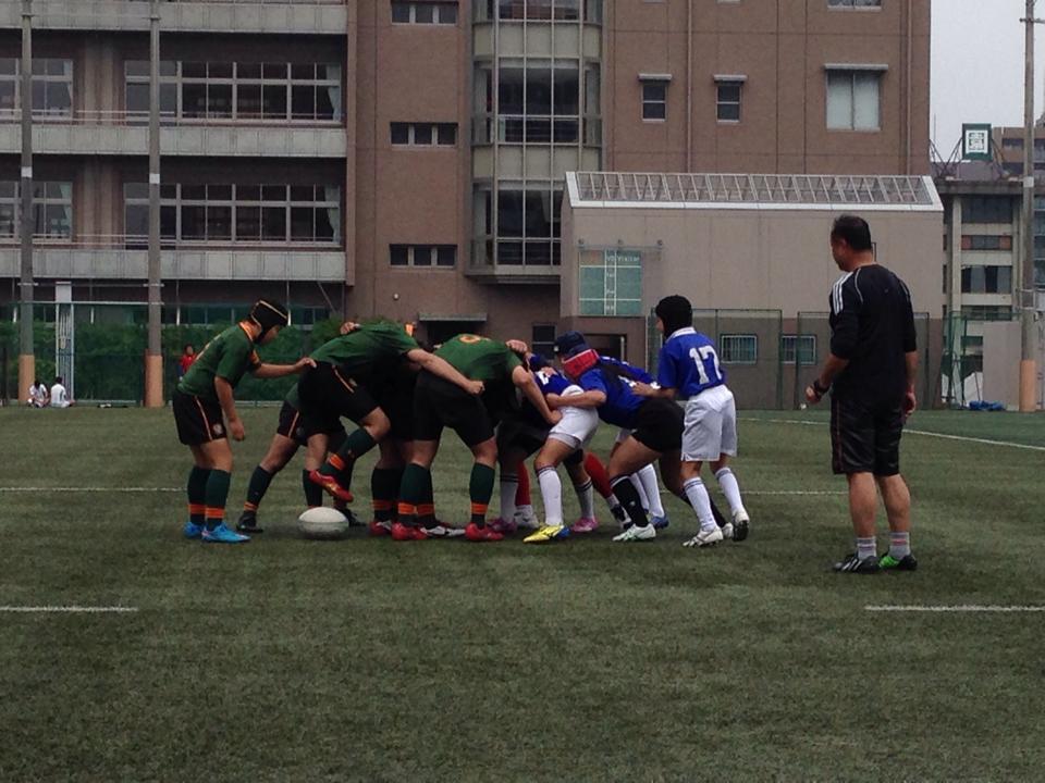 ヤングウェーブ北九州 東福岡自彊館中学校 ラグビー交流試合