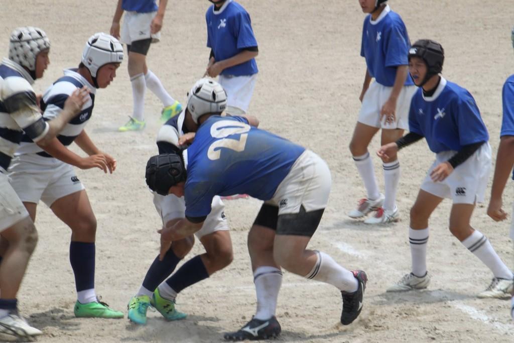 中学生福岡県ラグビー大会 ヤングウェーブVS春日