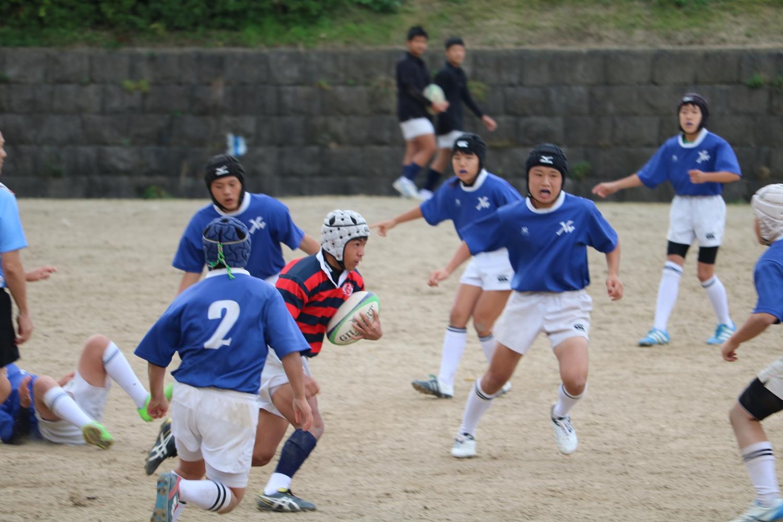 2016年11月23日(祝) 第34回福岡県中学校ラグビーフットボール新人大会